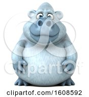 Clipart Of A 3d White Monkey Yeti On A White Background Royalty Free Illustration