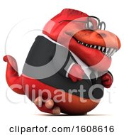 September 17th, 2018: Clipart Of A 3d Red Business T Rex Dinosaur On A White Background Royalty Free Illustration by Julos