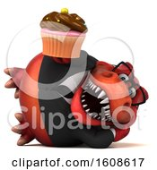 September 18th, 2018: Clipart Of A 3d Red Business T Rex Dinosaur Holding A Cupcake On A White Background Royalty Free Illustration by Julos