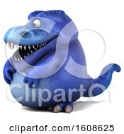 September 17th, 2018: Clipart Of A 3d Blue T Rex Dinosaur On A White Background Royalty Free Illustration by Julos