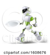 September 18th, 2018: Clipart Of A 3d Green And White Robot Holding A Plate On A White Background Royalty Free Illustration by Julos