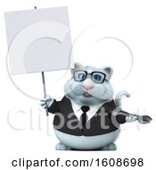 September 18th, 2018: Clipart Of A 3d White Business Kitty Cat Holding A Wrench On A White Background Royalty Free Illustration by Julos