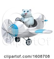 September 18th, 2018: Clipart Of A 3d White Kitty Cat Flying A Plane On A White Background Royalty Free Illustration by Julos