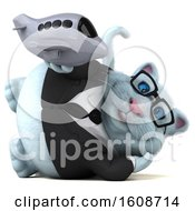 September 18th, 2018: Clipart Of A 3d White Business Kitty Cat Holding A Plane On A White Background Royalty Free Illustration by Julos