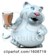 September 18th, 2018: Clipart Of A 3d White Kitty Cat Holding A Beer On A White Background Royalty Free Illustration by Julos