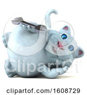 September 18th, 2018: Clipart Of A 3d White Kitty Cat Holding A Wrench On A White Background Royalty Free Illustration by Julos