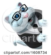 September 18th, 2018: Clipart Of A 3d White Business Kitty Cat On A White Background Royalty Free Illustration by Julos