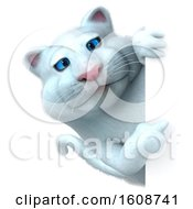 September 18th, 2018: Clipart Of A 3d White Kitty Cat On A White Background Royalty Free Illustration by Julos