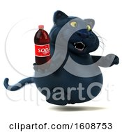 September 18th, 2018: Clipart Of A 3d Black Kitty Cat Holding A Soda On A White Background Royalty Free Illustration by Julos