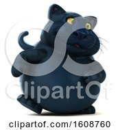 September 18th, 2018: Clipart Of A 3d Black Kitty Cat Walking On A White Background Royalty Free Illustration by Julos