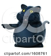 September 18th, 2018: Clipart Of A 3d Black Kitty Cat Pointing On A White Background Royalty Free Illustration by Julos