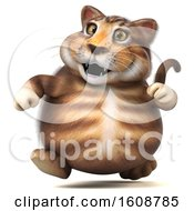 September 18th, 2018: Clipart Of A 3d Tabby Kitty Cat Running On A White Background Royalty Free Illustration by Julos
