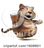 September 18th, 2018: Clipart Of A 3d Tabby Kitty Cat Holding A Beer On A White Background Royalty Free Illustration by Julos