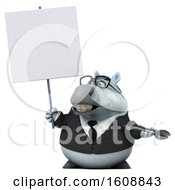 Poster, Art Print Of 3d Chubby White Business Horse Holding A Wrench On A White Background