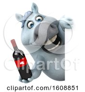 September 18th, 2018: Clipart Of A 3d Chubby White Horse Holding Wine On A White Background Royalty Free Illustration by Julos