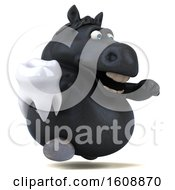 September 18th, 2018: Clipart Of A 3d Chubby Black Horse Holding A Tooth On A White Background Royalty Free Illustration by Julos