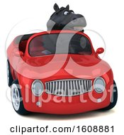 September 18th, 2018: Clipart Of A 3d Chubby Black Horse Driving A Convertible On A White Background Royalty Free Illustration by Julos