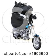 September 18th, 2018: Clipart Of A 3d Chubby Black Business Horse Riding A Motorcycle On A White Background Royalty Free Illustration by Julos