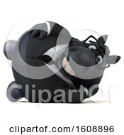 September 18th, 2018: Clipart Of A 3d Chubby Black Business Horse On A White Background Royalty Free Illustration by Julos