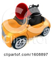 September 18th, 2018: Clipart Of A 3d Chubby Black Business Horse Driving A Convertible On A White Background Royalty Free Illustration by Julos