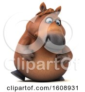 September 18th, 2018: Clipart Of A 3d Chubby Brown Horse On A White Background Royalty Free Illustration by Julos