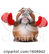September 18th, 2018: Clipart Of A 3d Bulldog Fighter Wearing Boxing Gloves On A White Background Royalty Free Illustration by Julos