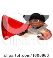 September 18th, 2018: Clipart Of A 3d Breton Crab Holding A Megaphone On A White Background Royalty Free Illustration by Julos