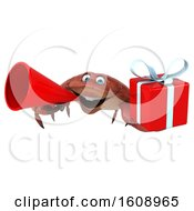 September 18th, 2018: Clipart Of A 3d Crab Holding A Gift On A White Background Royalty Free Illustration by Julos