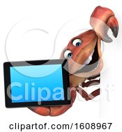 September 18th, 2018: Clipart Of A 3d Crab Holding A Tablet On A White Background Royalty Free Illustration by Julos