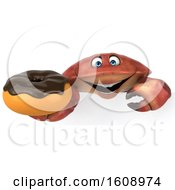 September 18th, 2018: Clipart Of A 3d Crab Holding A Donut On A White Background Royalty Free Illustration by Julos
