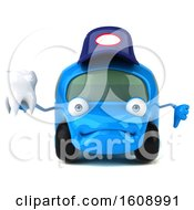 September 18th, 2018: Clipart Of A 3d Little Blue Car Mechanic Holding A Tooth On A White Background Royalty Free Illustration by Julos
