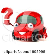 September 18th, 2018: Clipart Of A 3d Red Car Holding A Question Mark On A White Background Royalty Free Illustration by Julos