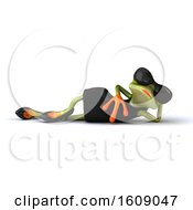 Clipart Of A 3d Female Frog Resting Royalty Free Illustration by Julos