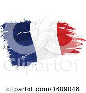 Clipart Of A Distressed And Torn French Flag Royalty Free Vector Illustration
