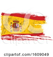 Clipart Of A Distressed And Torn Spanish Flag Royalty Free Vector Illustration