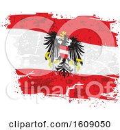 Clipart Of A Distressed And Torn Austrian Eagle Flag Royalty Free Vector Illustration