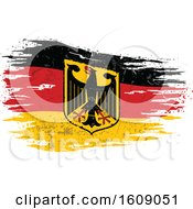 Clipart Of A Distressed And Torn Variant Flag Of Federal Republic Of Germany Royalty Free Vector Illustration