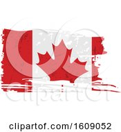 Clipart Of A Distressed And Torn Canadian Flag Royalty Free Vector Illustration