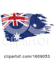 Clipart Of A Distressed And Torn Australian Flag Royalty Free Vector Illustration