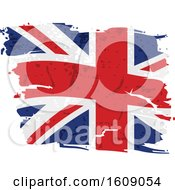 Clipart Of A Distressed And Torn Union Jack Flag Royalty Free Vector Illustration