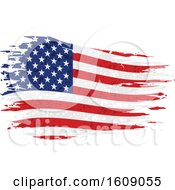 Clipart Of A Distressed And Torn American Flag Royalty Free Vector Illustration