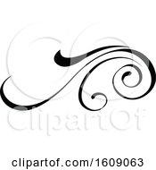 Black Flourish Design Element