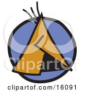 Native American Tipi Clipart Illustration