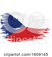 Clipart Of A Torn And Distressed Czech Republic Flag Royalty Free Vector Illustration by dero