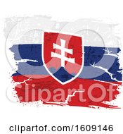 Clipart Of A Torn And Distressed Slovak Flag Royalty Free Vector Illustration by dero