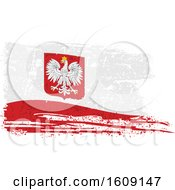 Clipart Of A Torn And Distressed Poland Flag Royalty Free Vector Illustration