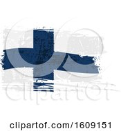 Clipart Of A Torn And Distressed Finland Flag Royalty Free Vector Illustration