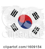 Clipart Of A Torn And Distressed South Korean Flag Royalty Free Vector Illustration by dero