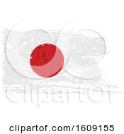 Clipart Of A Torn And Distressed Japanese Flag Royalty Free Vector Illustration by dero