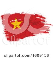 Clipart Of A Torn And Distressed Vietnamese Flag Royalty Free Vector Illustration
